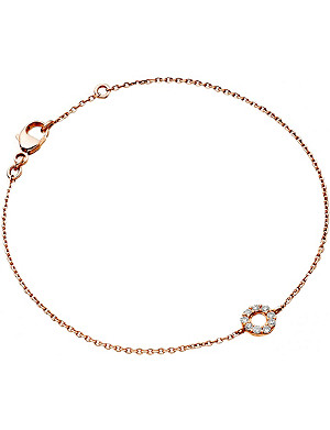 ASTLEY CLARKE Mini Halo rose-gold and diamond bracelet