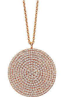 ASTLEY CLARKE Icon large 24ct gold vermeil pendant necklace