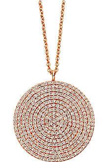 ASTLEY CLARKE Icon large 24ct gold vermeil pendant necklace