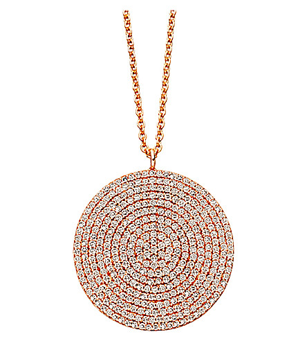 ASTLEY CLARKE Icon large 24ct gold vermeil pendant necklace (Pink,+grey