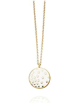 ASTLEY CLARKE Sea Shell Star Shower 18ct gold vermeil pendant necklace