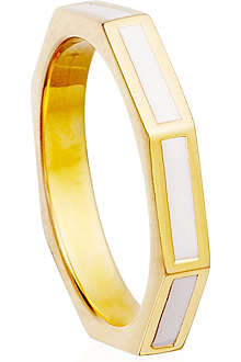 ASTLEY CLARKE Sea Shell 18ct gold vermeil fractal ring