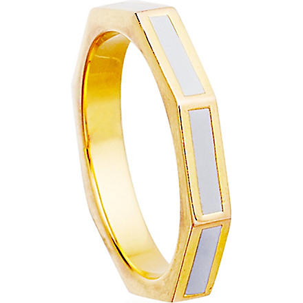 Astley Clarke: Moonlight 18ct gold vermeil fractal ring - Hiphunters Shop