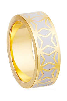 ASTLEY CLARKE Moonlight Star Mosiac 18ct gold vermeil ring