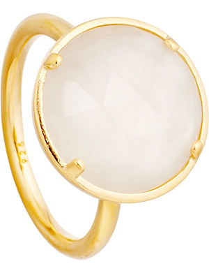 ASTLEY CLARKE Symphony 18ct gold vermeil moonstone ring