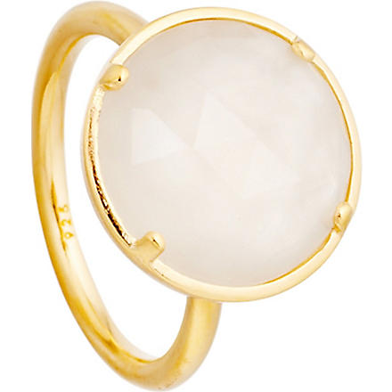 ASTLEY CLARKE Symphony 18ct gold vermeil moonstone ring (White
