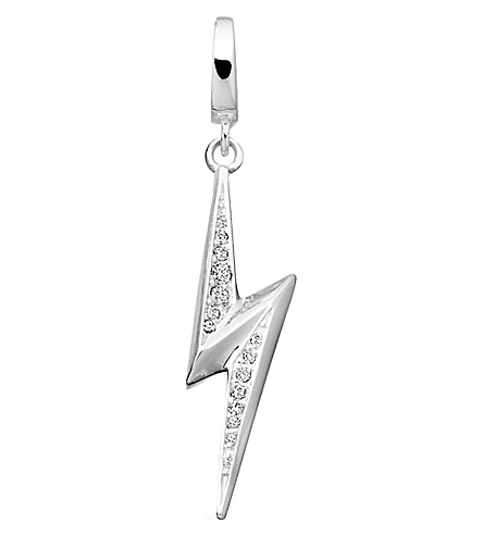 ASTLEY CLARKE Thunderbolt sterling silver diamond charm (Silver
