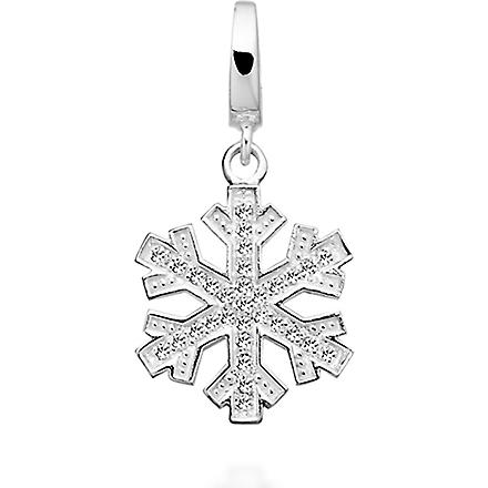 ASTLEY CLARKE Winter Skies sterling silver diamond charm (Silver