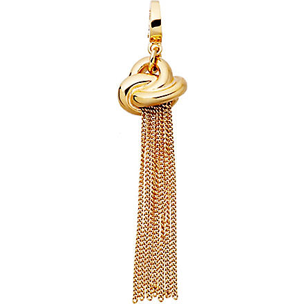 ASTLEY CLARKE Knot tassel 18ct gold vermeil charm (Gold