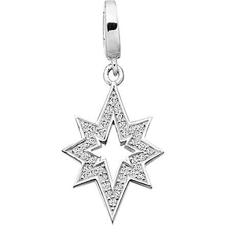 ASTLEY CLARKE Star of Wonder sterling silver diamond charm (Silver
