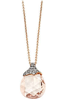 ASTLEY CLARKE Grey diamond morganite medium pendant