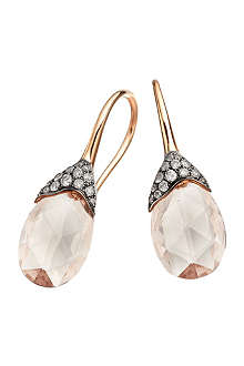 ASTLEY CLARKE Grey diamond morganite teardrop earrings