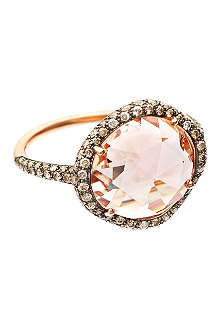 ASTLEY CLARKE Grey diamond morganite dress ring