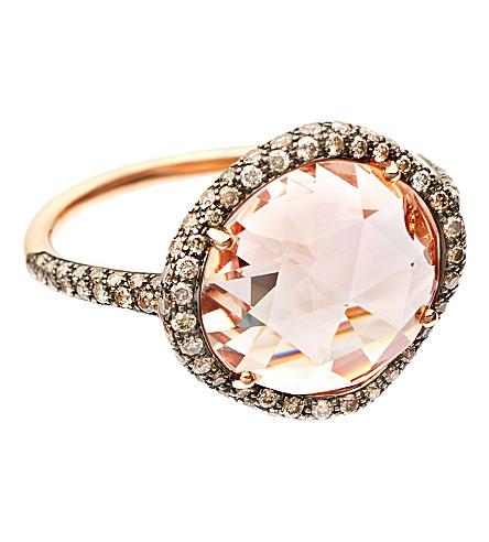 ASTLEY CLARKE Grey diamond morganite dress ring (Pink