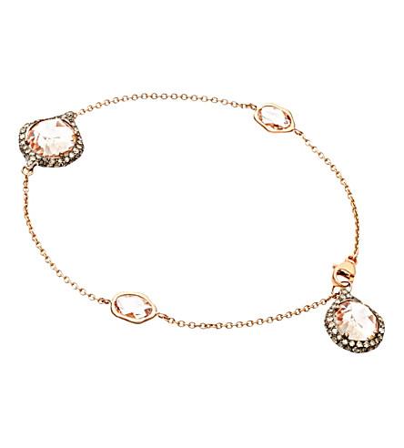 ASTLEY CLARKE Grey diamond morganite bracelet (Pink