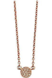 ASTLEY CLARKE 14ct rose gold pendant with grey diamonds