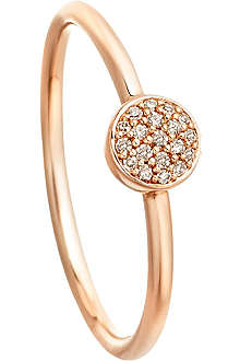 ASTLEY CLARKE 14ct rose gold ring with grey diamonds