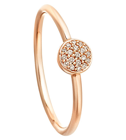 ASTLEY CLARKE 14ct rose gold ring with grey diamonds (Pink
