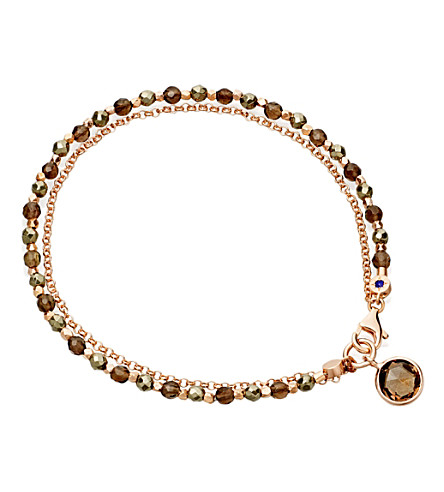 ASTLEY CLARKE Pyrite and smoky quartz bracelet (Brown, grey