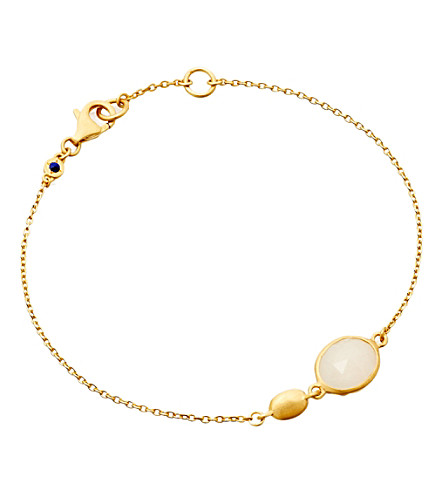 ASTLEY CLARKE Moonstone cadenza bracelet (Gold, white