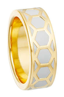 ASTLEY CLARKE Moonlight honeycomb ring