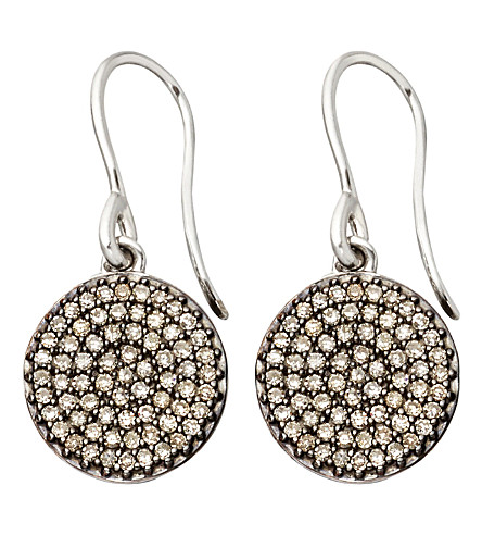 ASTLEY CLARKE Small Icon 14ct white gold drop earrings (White