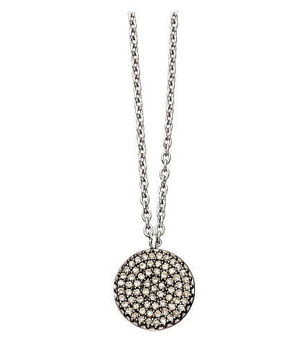ASTLEY CLARKE Small Icon 14ct white gold pendant necklace (White