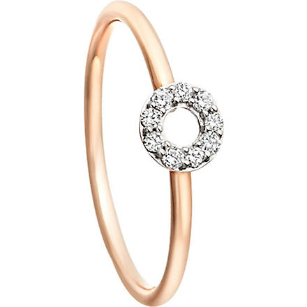 ASTLEY CLARKE Diamond polo ring (Pink