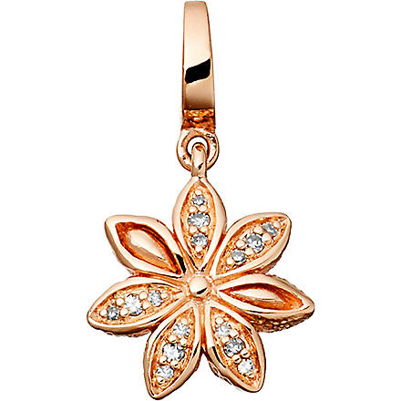 ASTLEY CLARKE Star Anise Aphrodisiac 18ct rose gold vermeil charm (Pink