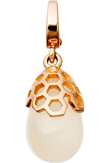 ASTLEY CLARKE Moonstone Honeycomb Ahrodisiac 18ct rose gold charm