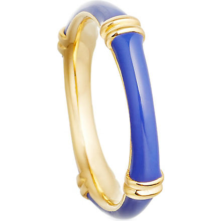 ASTLEY CLARKE Bamboo 18ct gold vermeil ring (Blue