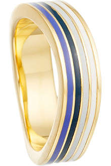 ASTLEY CLARKE Sail on Sailor 18ct gold vermeil wave ring