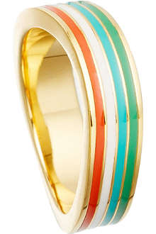 ASTLEY CLARKE Surfing Safari 18ct gold vermeil wave ring