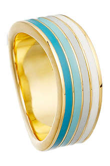 ASTLEY CLARKE Good vibrations 18ct gold vermeil wave ring