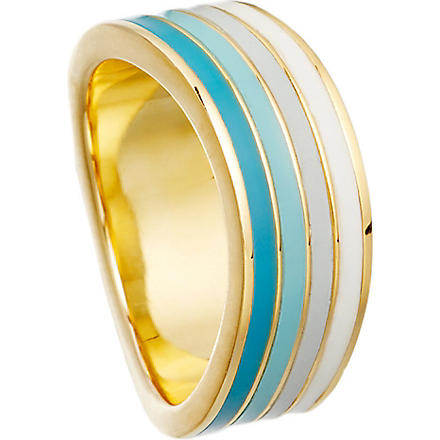 ASTLEY CLARKE Good vibrations 18ct gold vermeil wave ring (Whiteblues