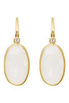 ASTLEY CLARKE Long oval drop moonstone earrings