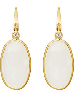 ASTLEY CLARKE Long oval drop moonstone earrings
