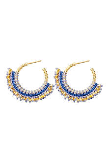 ASTLEY CLARKE Blue Indigo Woven 18ct gold vermeil hoop earrings