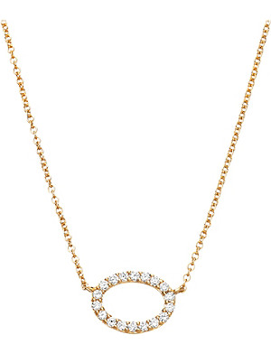 ASTLEY CLARKE 14ct yellow gold halo diamond pendant