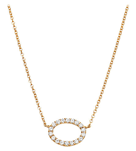 ASTLEY CLARKE 14ct yellow gold halo diamond pendant (Gold