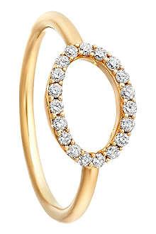 ASTLEY CLARKE 14ct yellow gold halo diamond ring
