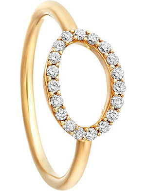 ASTLEY CLARKE 14ct yellow gold halo diamond ring