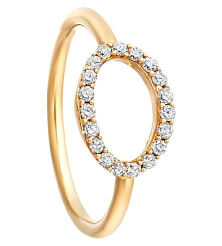 ASTLEY CLARKE 14ct yellow gold halo diamond ring (Gold