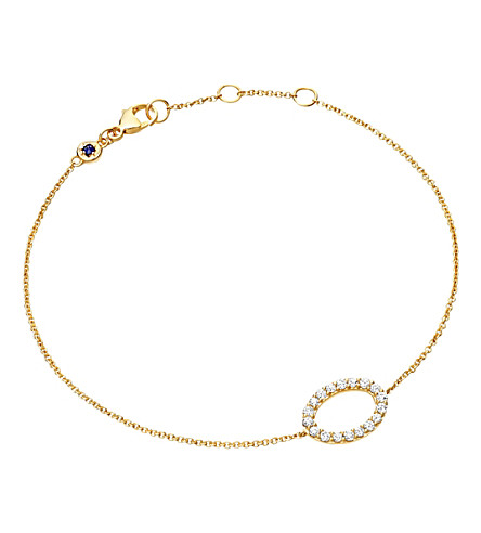 ASTLEY CLARKE 14ct yellow gold halo diamond bracelet (Gold