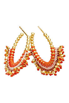 ASTLEY CLARKE Hot coral woven earrings