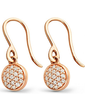 ASTLEY CLARKE 14ct rose-gold and diamond mini Icon drop earrings