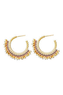 ASTLEY CLARKE White Woven 18ct gold vermeil hoop earrings