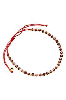 ASTLEY CLARKE 18 carat gold red cord bracelet