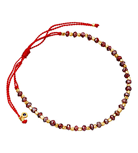 ASTLEY CLARKE 18ct gold vermeil red cord bracelet (Red