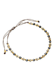 ASTLEY CLARKE 18 carat gold grey cord bracelet